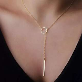 Drop Gold Chain Delicate Necklace