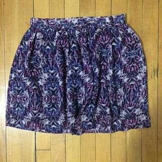 Purple Printed Skirt
