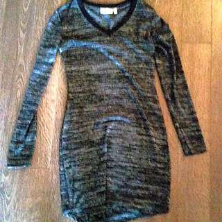 Small Black And Grey Dress