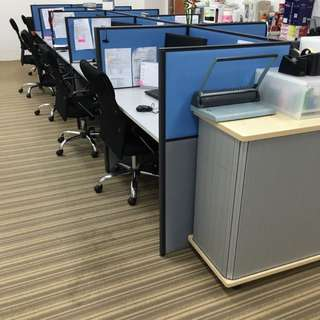 2 Year Old Office System Furniture And Chairs