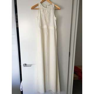 White Zara Full Length Dress