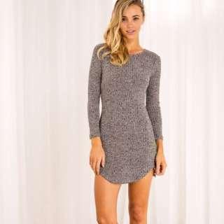 Dusty Pink Long Sleeve Casual Dress XS 6-8
