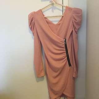 Stylish Pink Party Dress