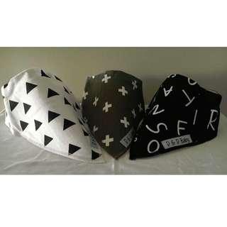 Black and White - Bandana Bibs