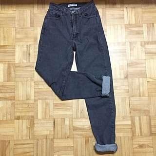 American Apparel High Waist Black Jeans