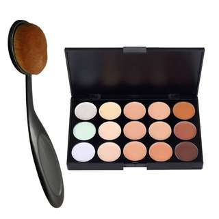 [RS] PRO 15 Colour Concealer Palette + Oval Cleanser Face