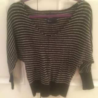 AE Striped Sweater size Small