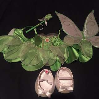 Complete Tinker Bell Build-a-Bear Outfit