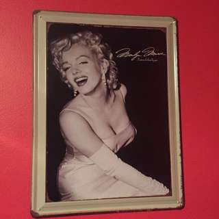 Marilyn Monroe Vintage Tin Picture