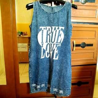Dress Motif Jeans True Love