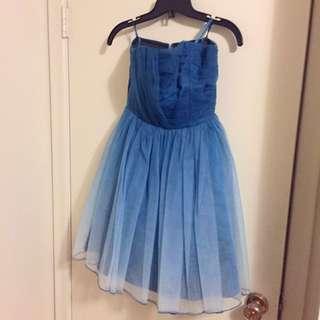 Ombré Blue Le chateu Dress