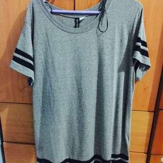 Grey color Tshirt with Black stripes