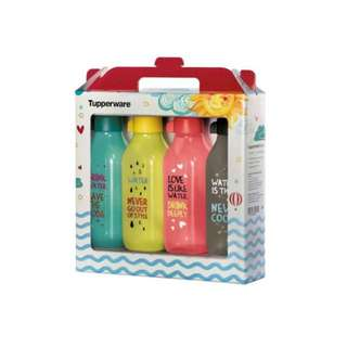 (Reserved) BN Tupperware® - Funky Cool Square Eco Bottle (4) 500ml