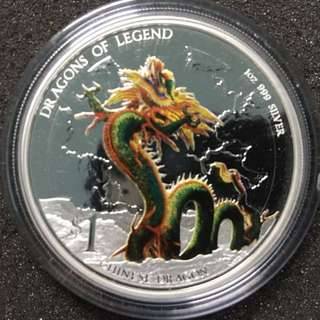2012 tuvalu $1 dragons of legend, Proof Silver Coin