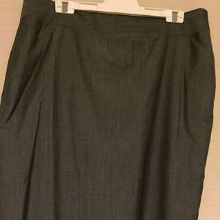 ⭐️⭐️⭐️SABA Grey Wool Work Office Skirt Size 14