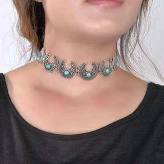 Metal Choker Necklace (Free Postage)
