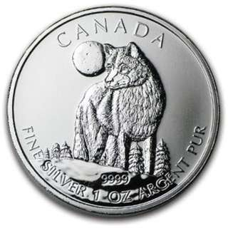 2011 - 2013 Canadian Wild Life Series .9999 Silver Coins
