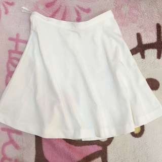 Uniqlo White Skater Skirt