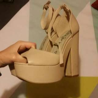 Size 9. Nude Heels Purchased From Betts