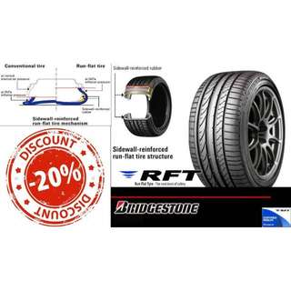 Bridgestone RFT Run Flat Tyre Promotion