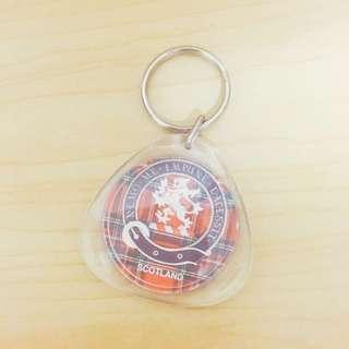 蘇格蘭格紋布鑰匙圈