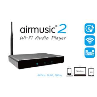 Wireless Wifi Audio Receiver AirMusic 2 AirPlay DLNA Qplay HIFI SPDIF Music player sync Surf Internet Routing For IOS & android