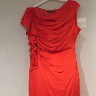 ⭐️⭐️⭐️Arthur Galan designer dress 100% silk Sz 14