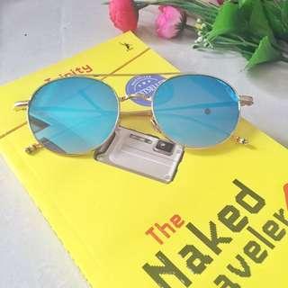 Round Glasses Baby Blue