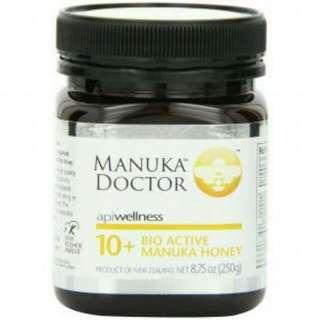 Manuka Doctor新西蘭麥盧卡蜂蜜10+ 250g 天然密糖