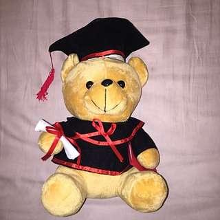 """Scholar Teddy Bear Plush Toy Sitting 12"""""""