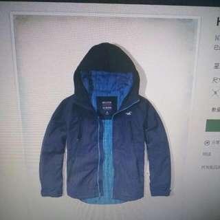 降價出售hollistet  全天候夾克  M號也可交換S號,限全新品