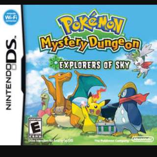 WTB: Pokemon Mystery Dungeon: Explorers Of Sky