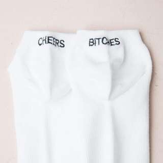 "Brandy Melville ""Cheers Bitches"" Sock"