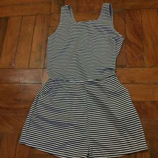 Reserved - Striped Romper
