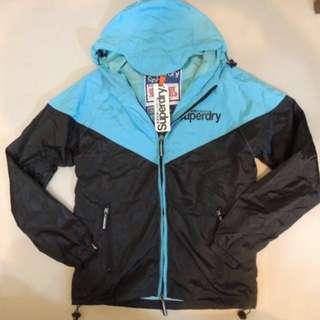 Superdry 極度乾燥 防風外套 防水外套 M號 藍色款