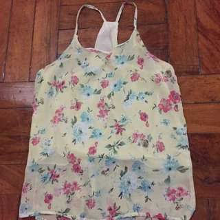 Reserved - Floral Halter Top