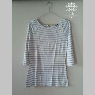 Portmons - Blue Stripe White