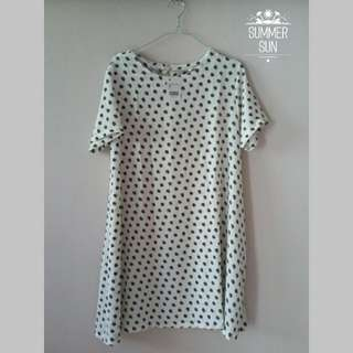 Leaf Dress Pattern - White (SALE)