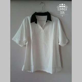 Collar Shirt - White