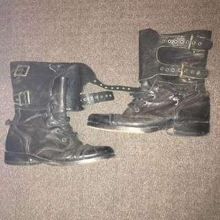 All Saints Damisi Combat Boots Size 39