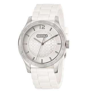 New Coach Women's Maddy Watch 14501803 Stainless Steel Silicone Rubber Strap