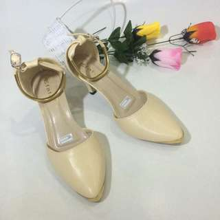 [new] Highheels Cream-Gold