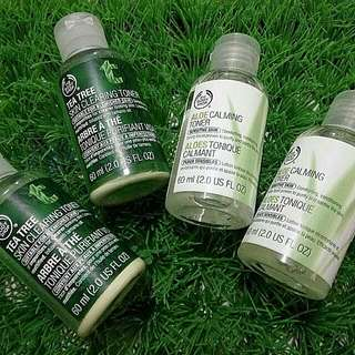 The Body Shop  Aline Calming Toner & Skin Tree Toner