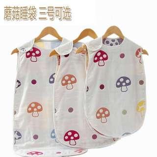 蘑菇六層紗布睡袋
