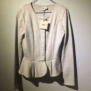 ASOS Grey Peplum Jacket