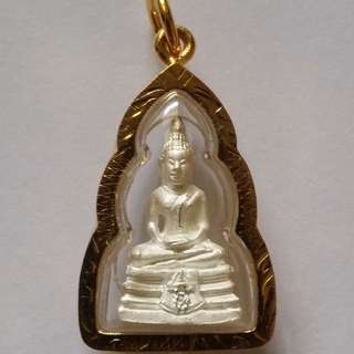 Thai Amulets Buddha Phra LP Sothorn Mini Pendant White Protect Lucky Success