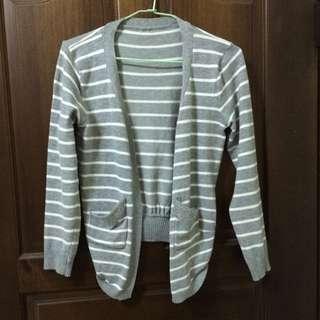 灰色條紋小外套