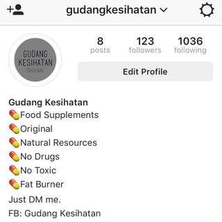 We're On instagram @gudangkesihatan