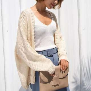 花邊日系針織罩衫
