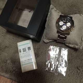 Agnes b 三眼計時手錶 日本購回